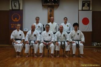 Ryushinkan Dojo v Tokiu - Sensei Seiro Aragaki a český tým
