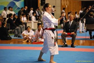 Petře Židková na okinawském turnaji